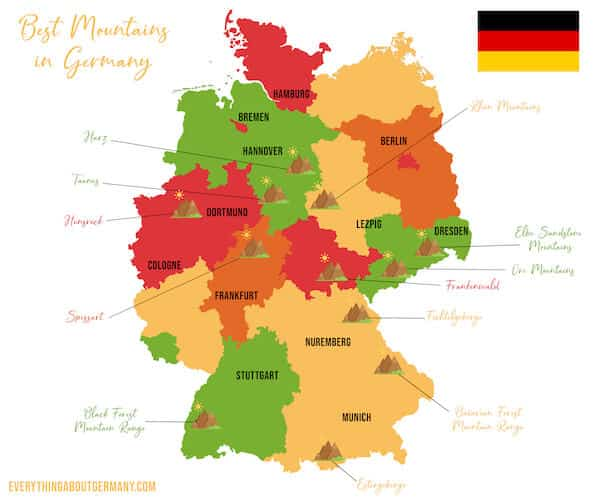 Germany Mountains Map
