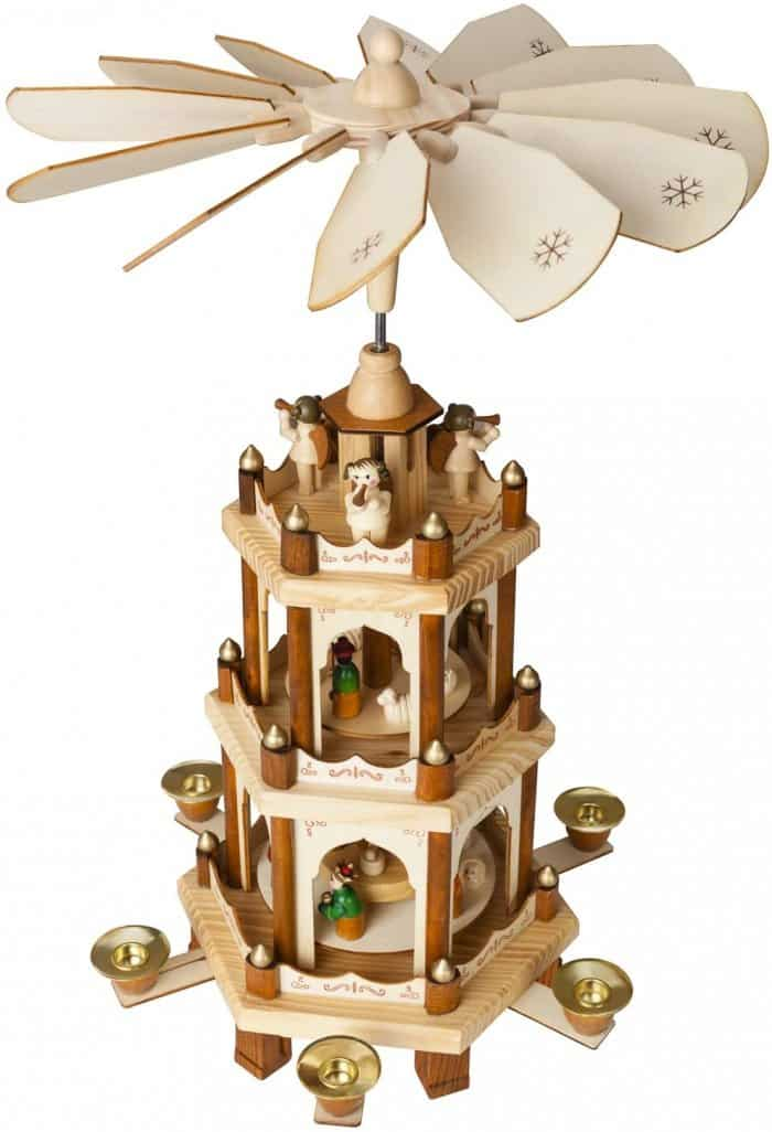 BRUBAKER Wooden Christmas Pyramid