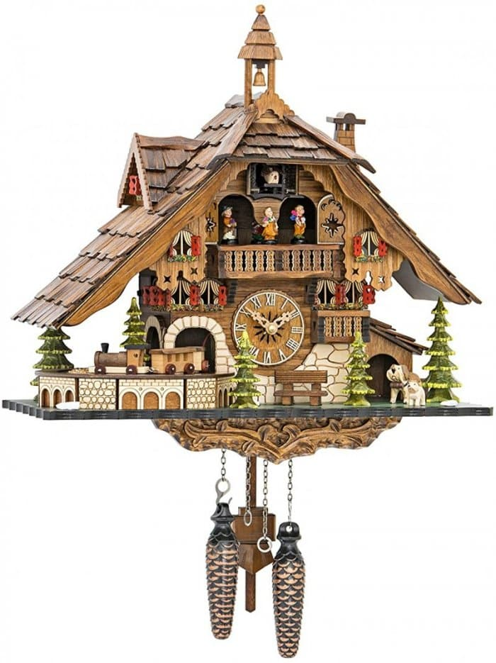 Quartz Cuckoo Clock Black Forest House